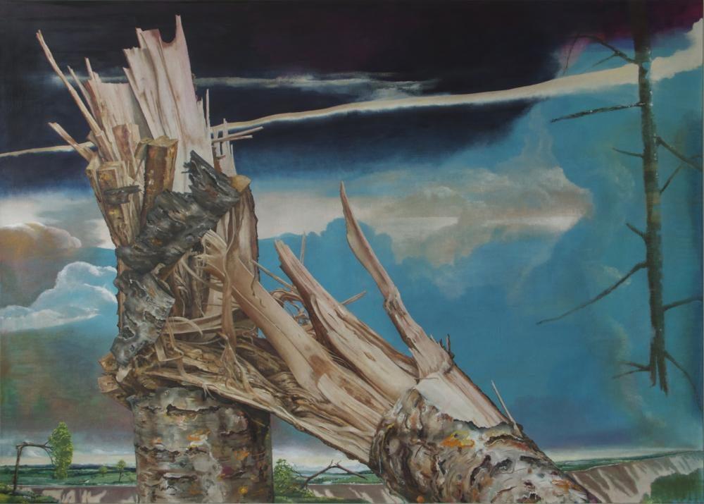 Bruch II, 200 x 280 cm, Öl auf Leinwand, 2011