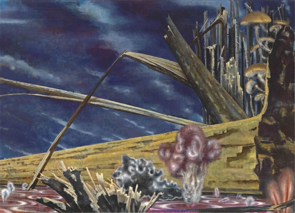 Waldrand, 145 x 200 cm, Öl auf Leinwand, 2011