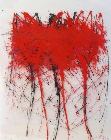 Feuerwerk, 2012, 102 x 80 cm, Acryl auf Folien