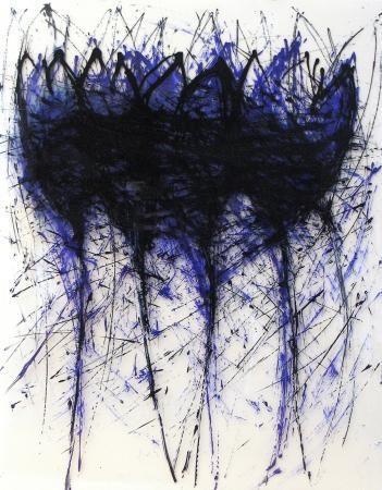 Les fleurs du mal, 2012, 102 x 80 cm, Acryl auf Folien