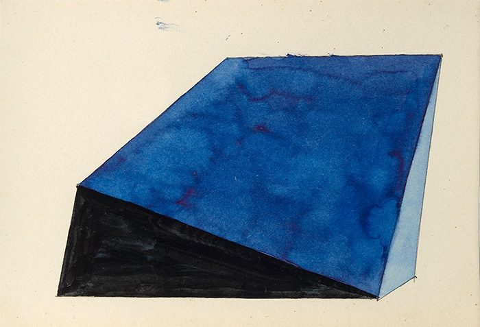 Ohne Titel / 2015, Tusche auf Papier, mit Rahmen 15x22 cm