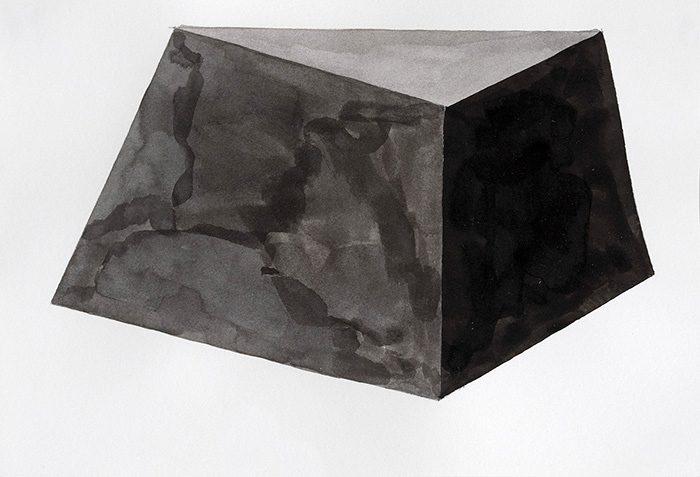 Ohne Titel / 2015, Tusche auf Papier, mit Rahmen 24x30 cm